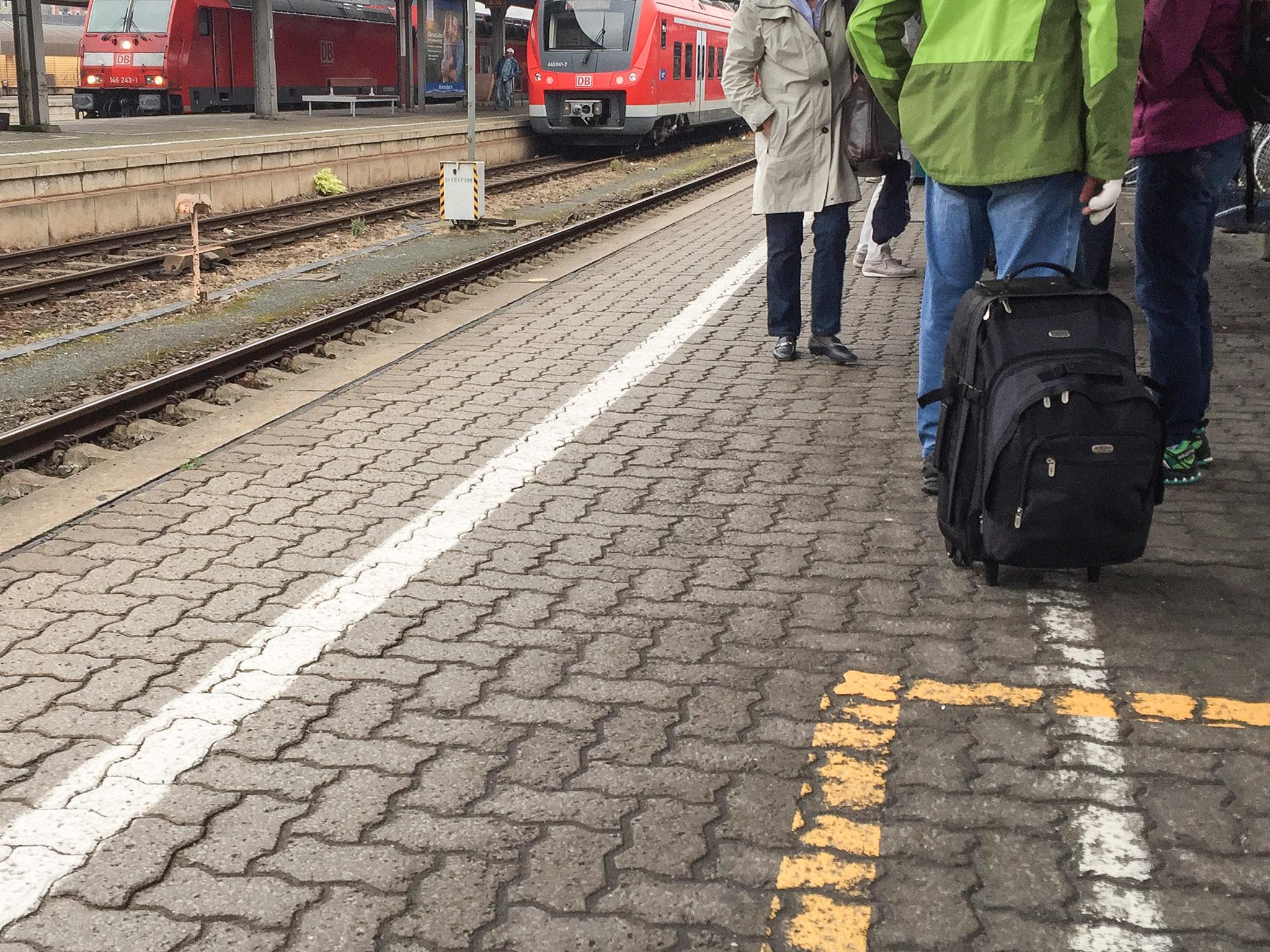 Bahnsteig. Foto: Pascal Höfig
