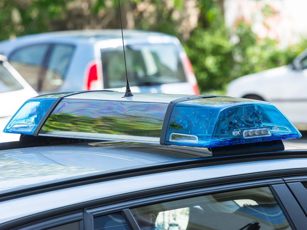 Blaulicht am Polizeiauto. Foto: Pascal Höfig