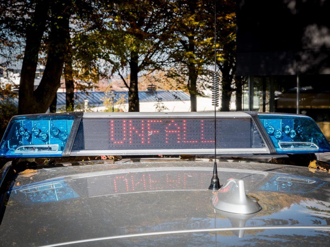 "Streifenwagen LED ""Unfall"" -Symbolfoto: Pascal Höfig"