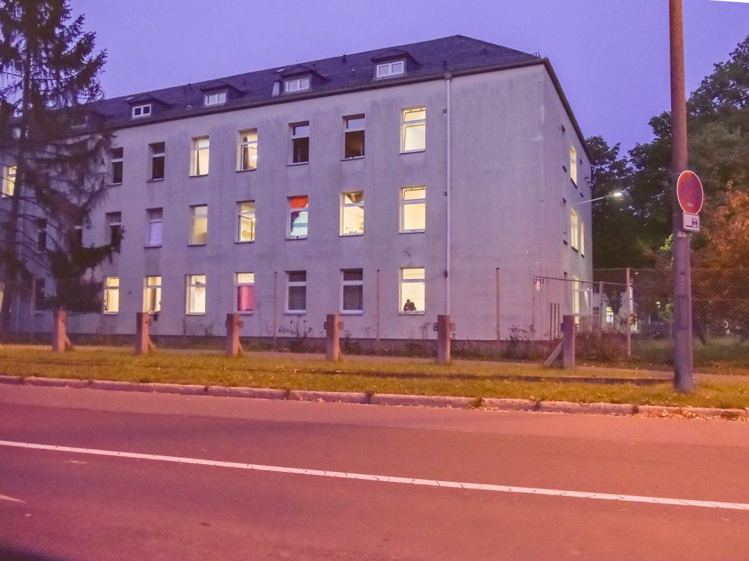 Die Erstaufnahmeeinrichtung Unterfranken im Kasernenweg Schweinfurt. Foto: Pascal Höfig