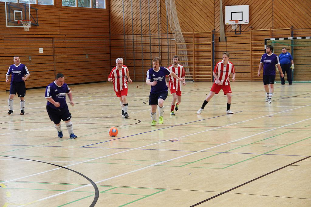 Die Teams lieferten sich ein spannendes Match - Foto: Lebenshilfe Schweinfurt