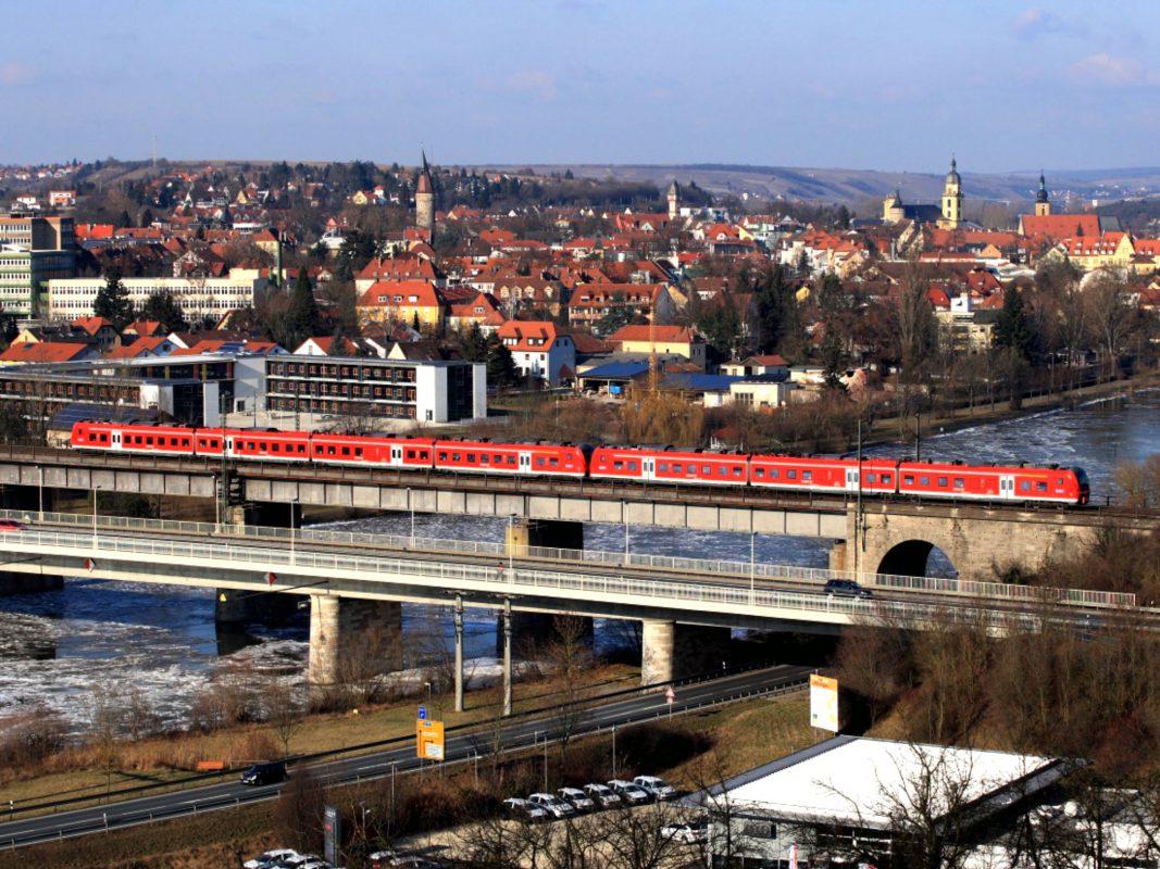 Überfahrt über den Main. Foto: DB Regio Bayern