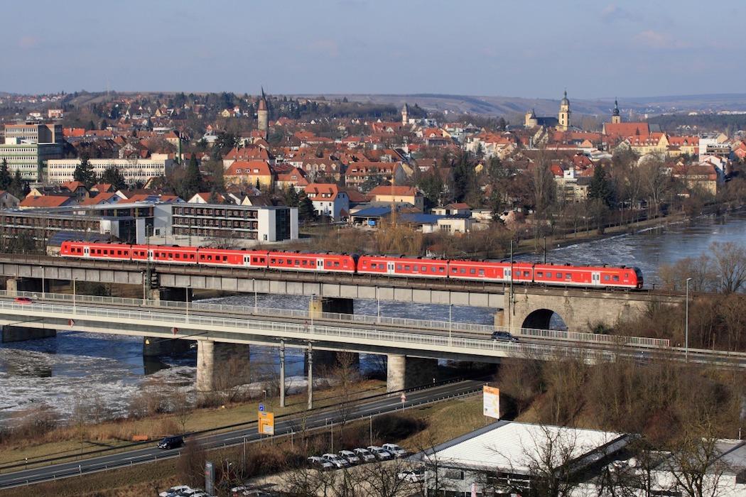 Mit der Mainfrankenbahn geht's nach Ochsenfurt und Bad Neustadt. Foto: DB Regio