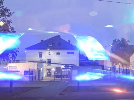 Polizei im Kasernenweg Schweinfurt. Foto: Pascal Höfig
