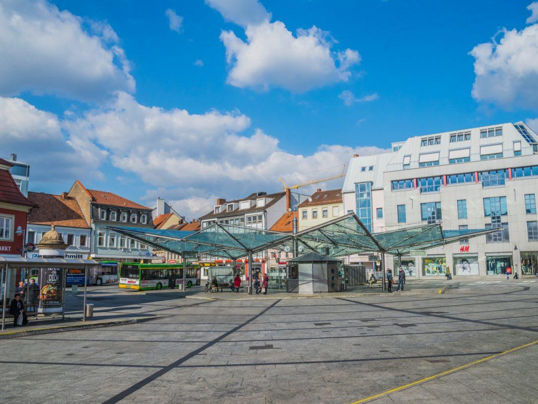 Roßmarkt Schweinfurt. Foto: Pascal Höfig