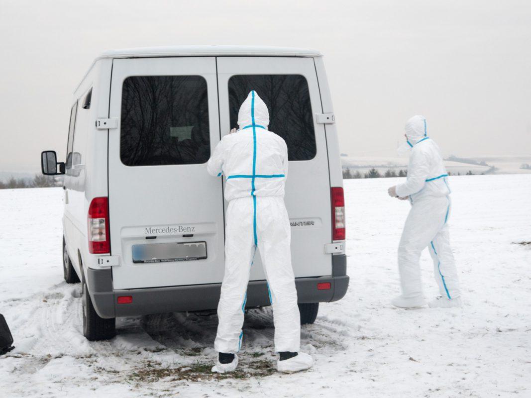 Die Spurensicherung am Tatort – Foto: Pascal Höfig
