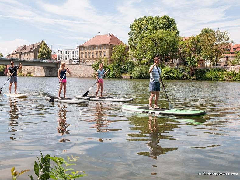 Stand Up Paddling in Schweinfurt. Foto: Schweinfurt 360°/ F.Trykowski