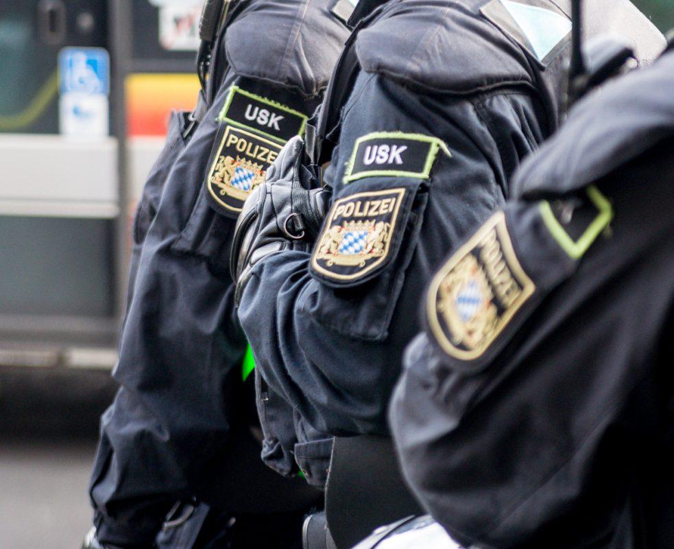 Beamte des Unterstützungskommando (USK) der bayerischen Polizei - Foto: Pascal Höfig