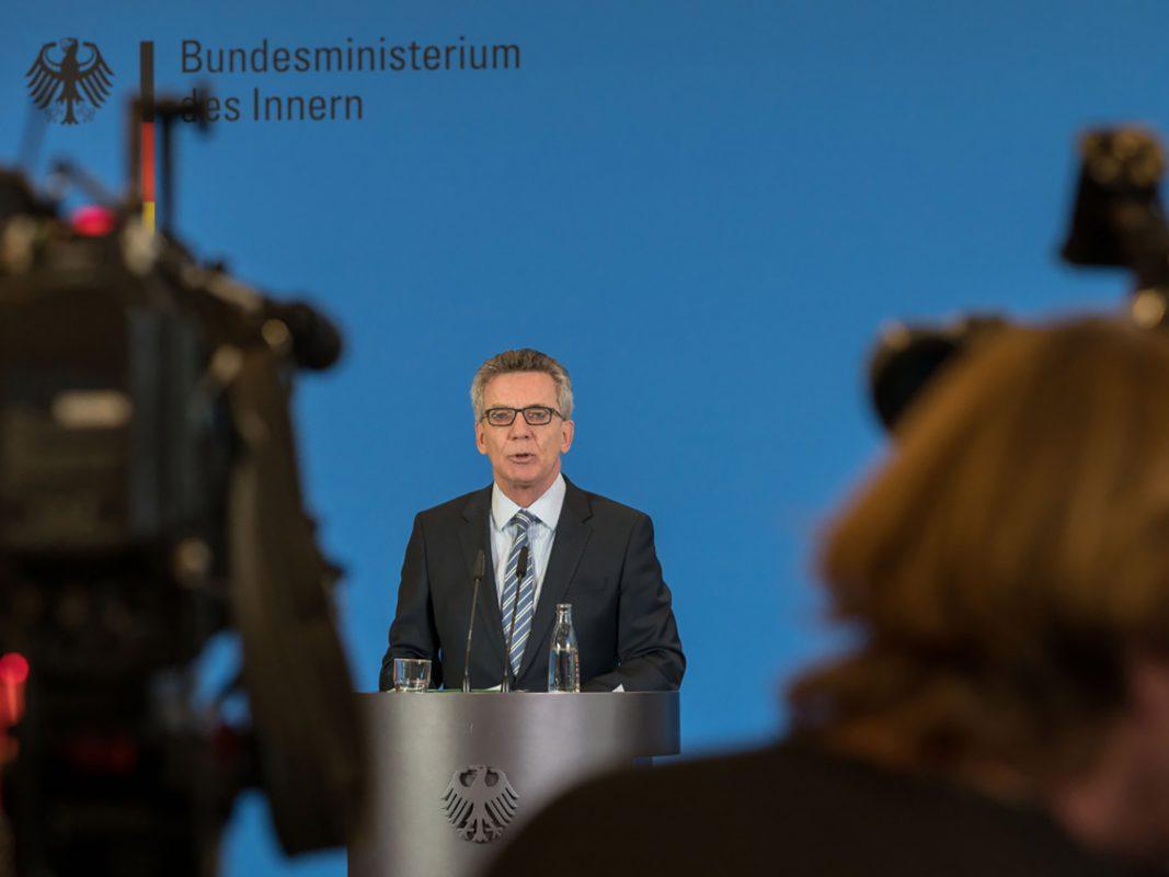 Bundesminister Dr. Thomas de Maizière - Foto: BMI