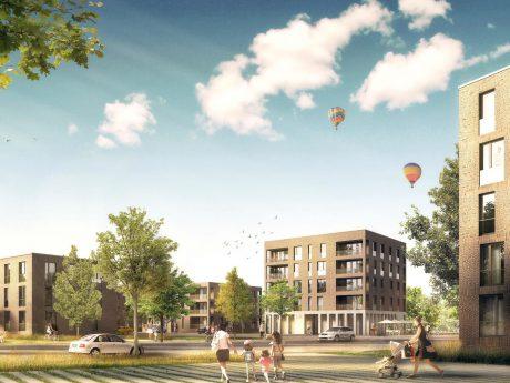 Visualisierung: Neuer Quartierseingang Askren Manor. Grafik: Stadt Schweinfurt