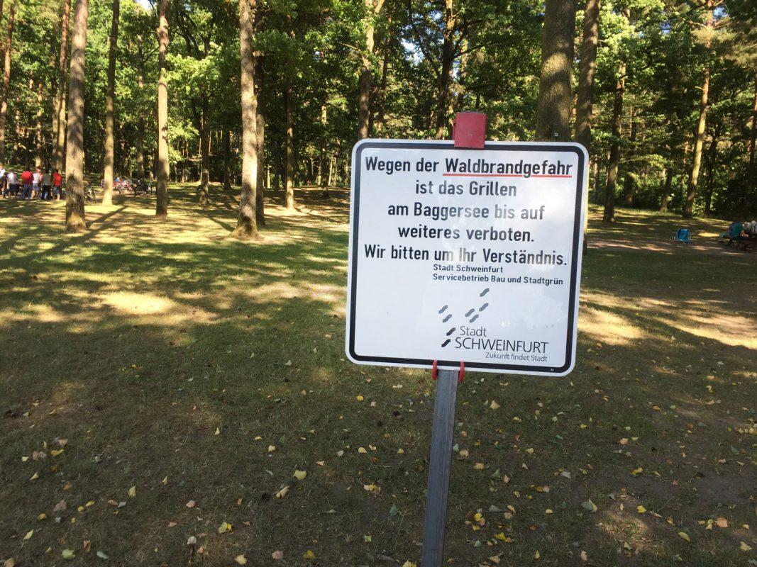 Grillverbot wegen Waldbrandgefahr. Foto: Pascal Höfig
