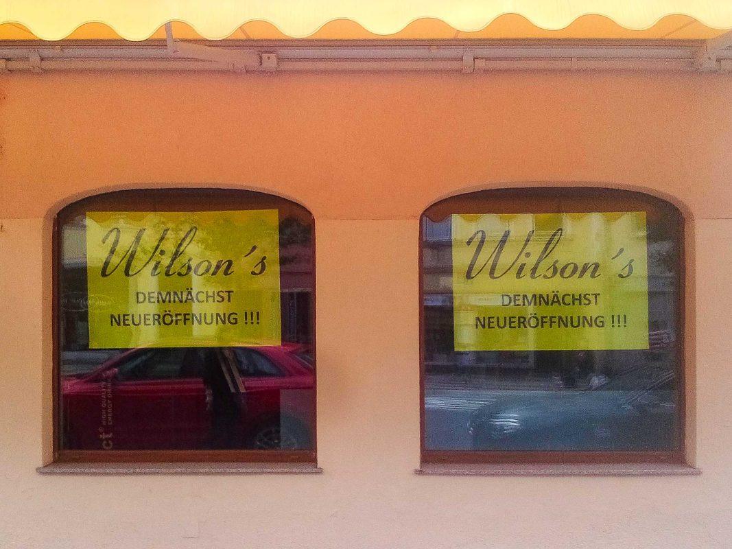 Das Wilson's startet neu durch. Foto: Christiane