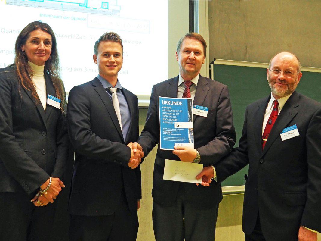 Lukas Koch bei der Deutschlandpreisverleihung 2017. Foto: Hochschule Wismar