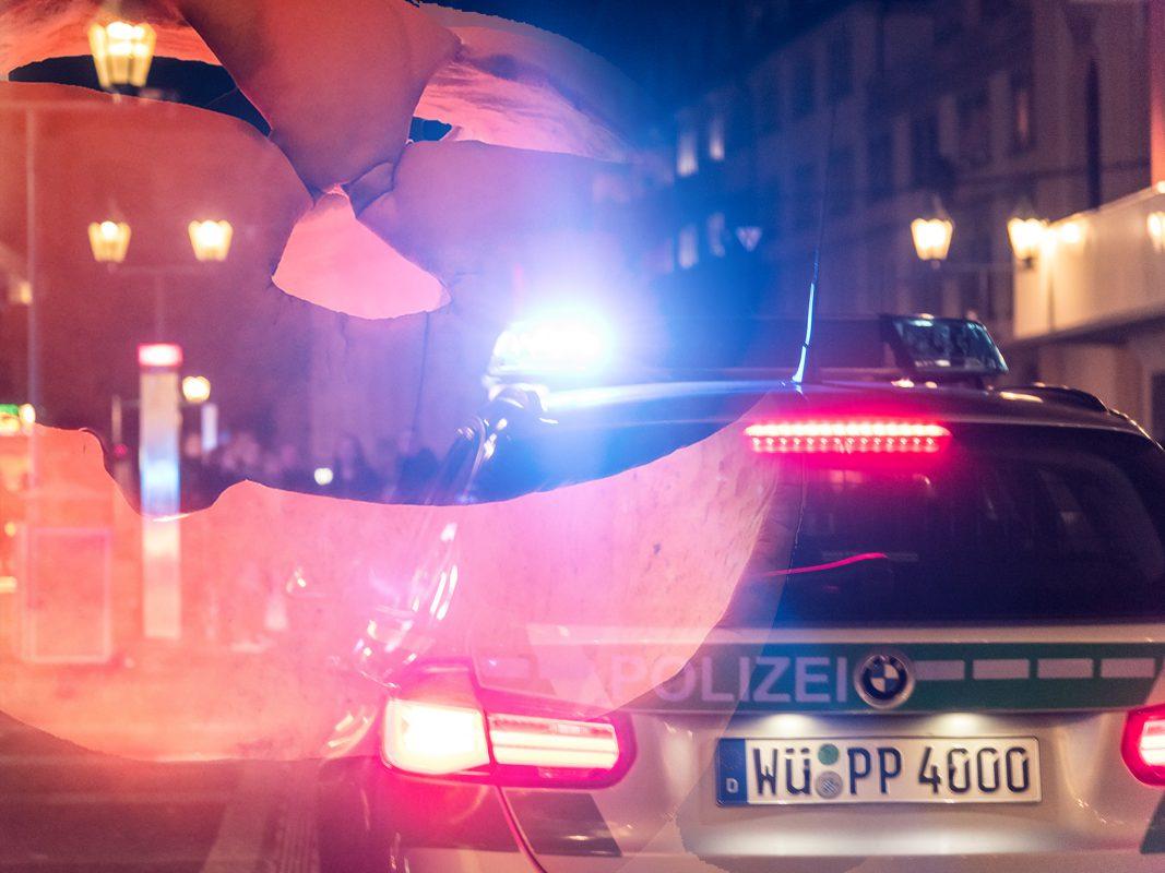 Die Polizei war mit verstärkten Kräften an Halloween im Einsatz. Foto: Pascal Höfig