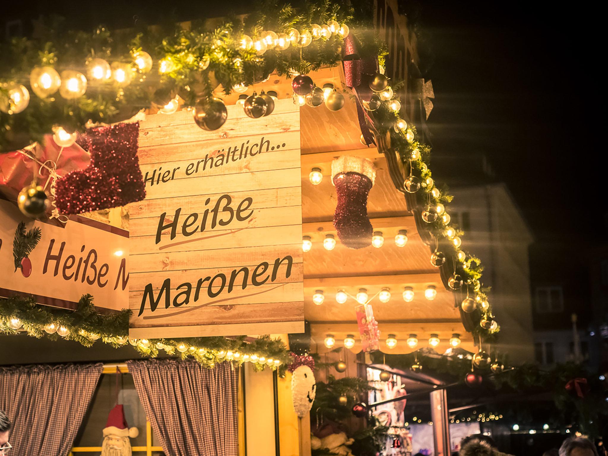 Heiße Maronen auf dem Weihnachtsmarkt. Foto: Pascal Höfig
