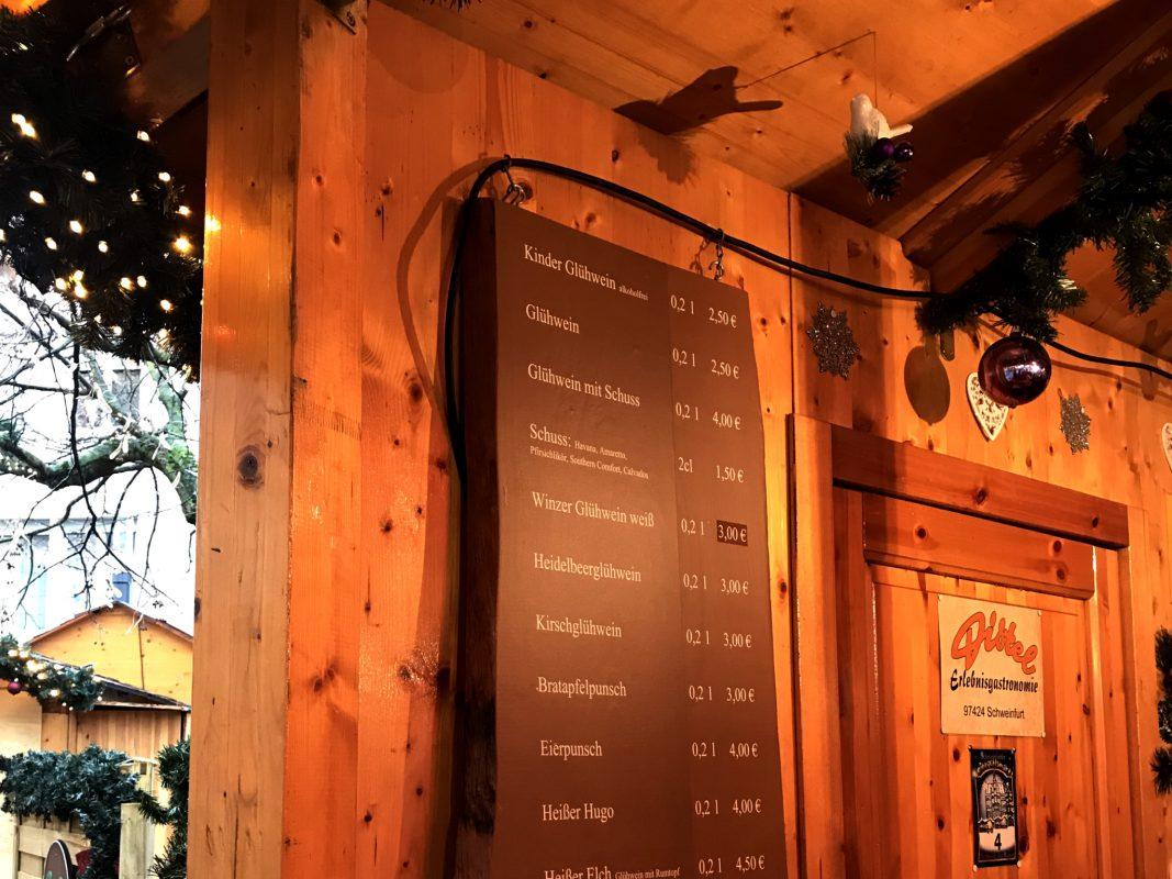 Was Kostet Glühwein Auf Dem Weihnachtsmarkt 2019.Glühwein Einheitspreise Auf Dem Weihnachtsmarkt Schweinfurt City