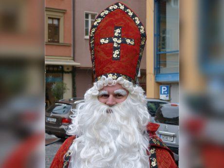 Der Nikolaus in Schweinfurt. Foto: Pascal Höfig