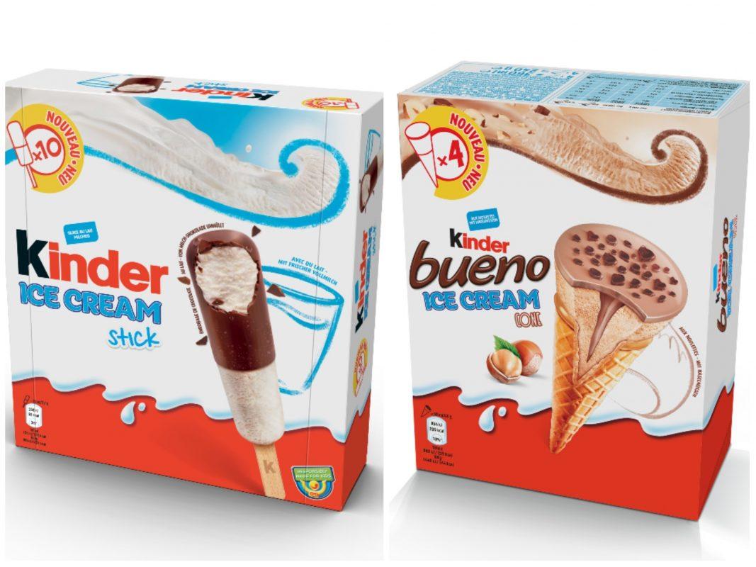 Die neuen Eis-Kreationen von Ferrero und Unilever. Fotos: Unilever