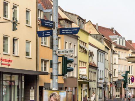 Der Albrecht-Dürer-Platz in Schweinfurt. Foto: Pascal Höfig