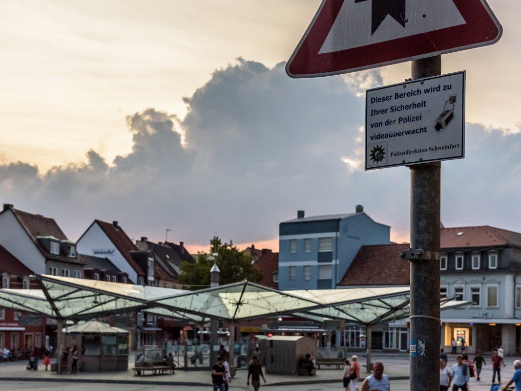 Videoüberwachung Rossmarkt in Schweinfurt. Foto: Pascal Höfig
