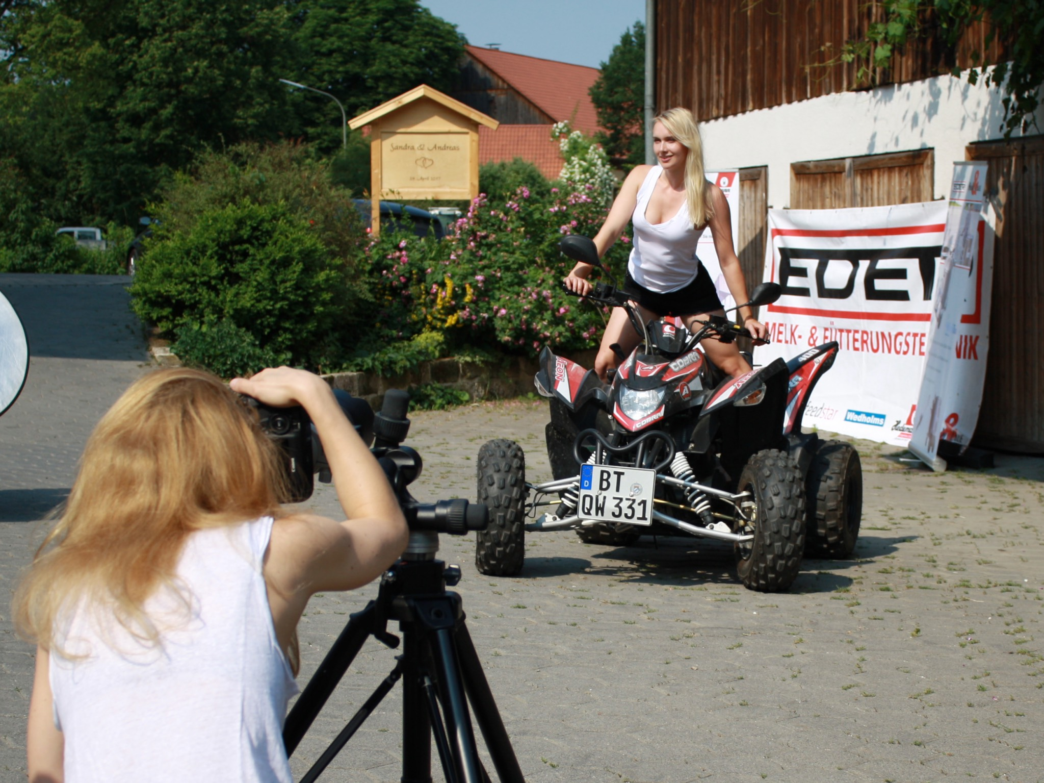 Szene vom Shooting des diesjährigen Kalenders: Foto: AGRO Communication GmbH