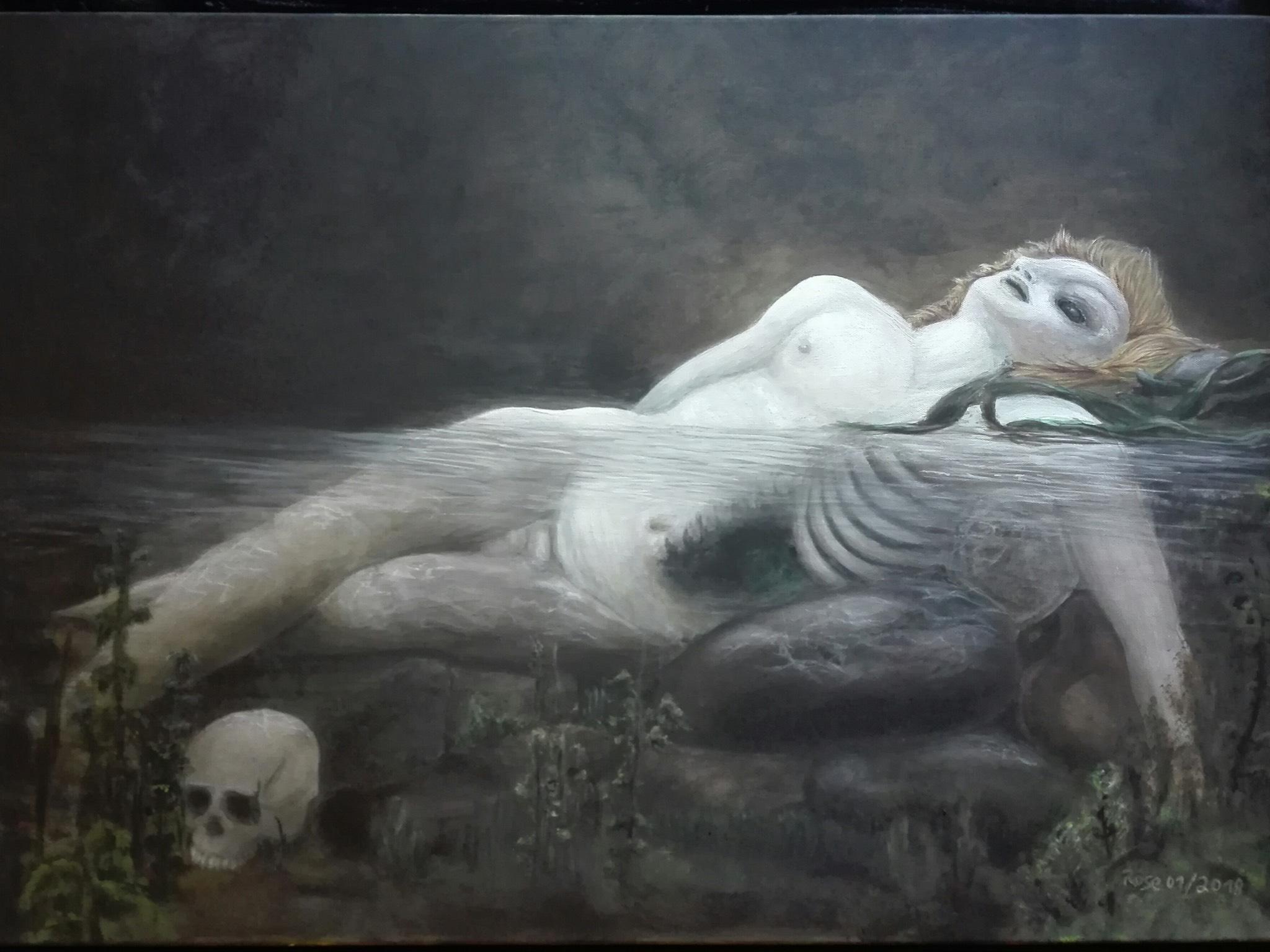 """Karolina"" von Rose Black, 70 × 100 cm, Leinwand, Acryl. Foto: Delila Berger"