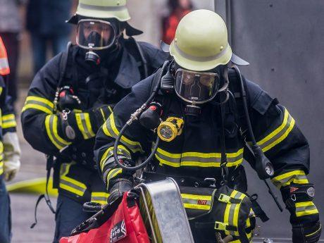 Atemschutzträger der Feuerwehr. Foto: Pascal Höfig