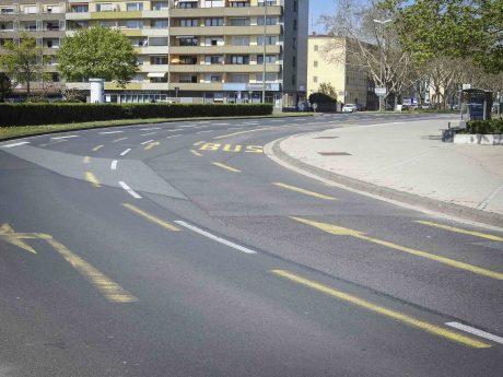 Neue Verkehrsführung in der Stresemannstraße. Foto: Dirk Flieger