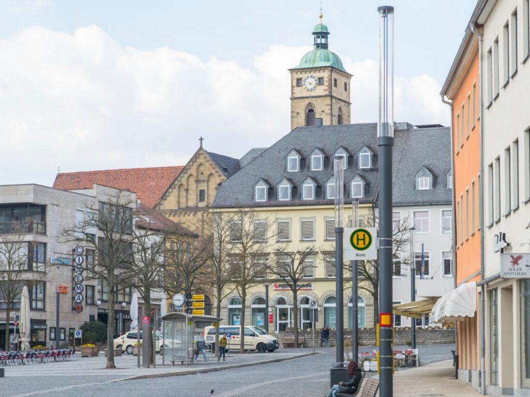 Haltestelle Markt. Foto: Schweinfurt City