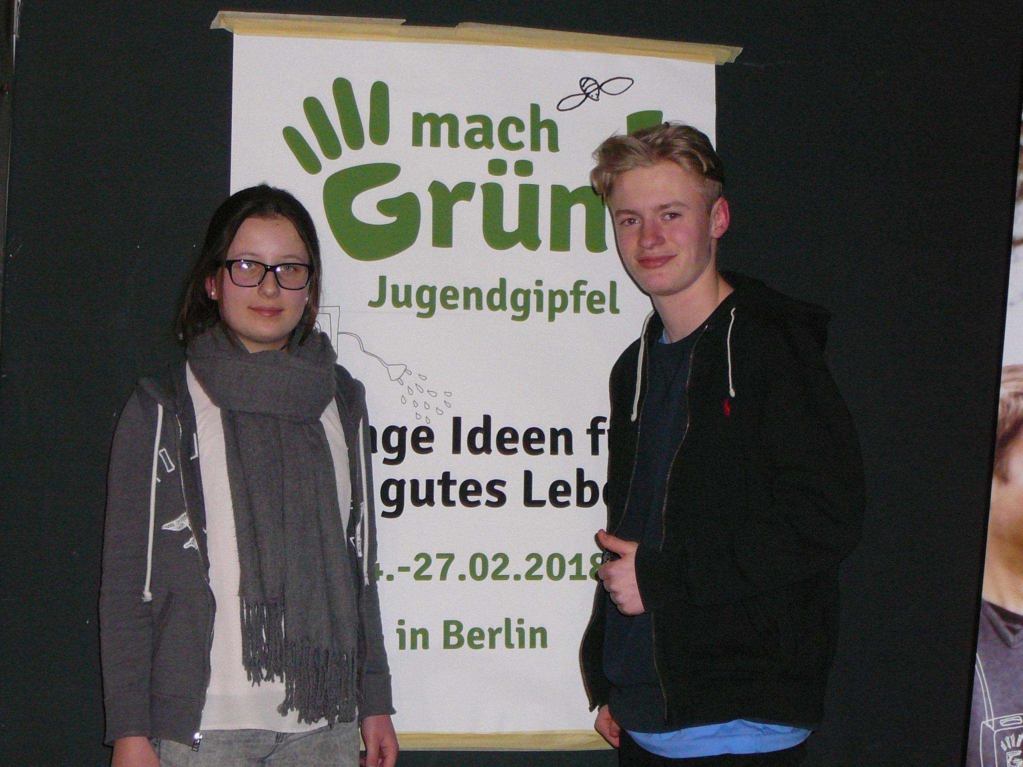 Michelle und Louis durften zum Jugendgipfel nach Berlin. Foto: Harald Preger/Wilhelm-Sattler-Realschule