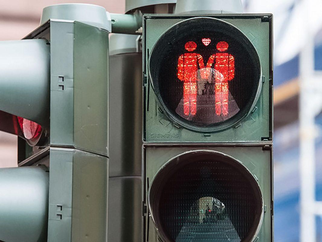 Homosexuelle Ampelmännchen. Auch eine Idee für unsere Stadt? Foto: Pascal Höfig.