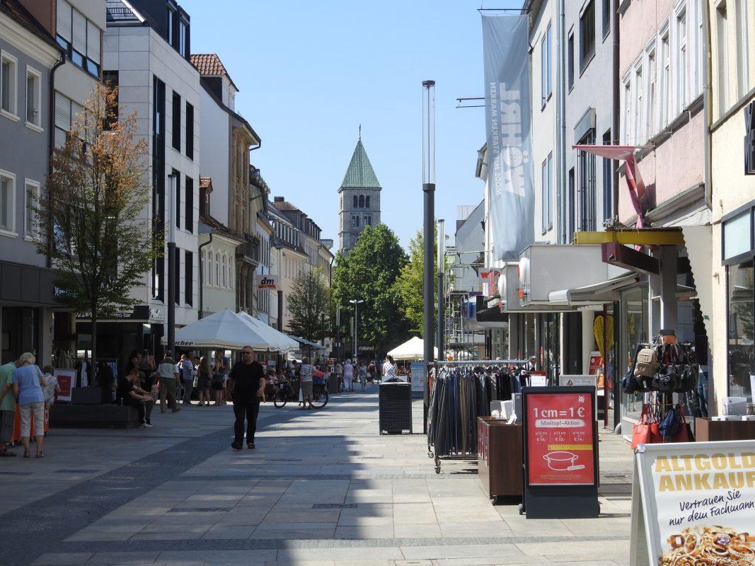 Die Spitalstraße in Schweinfurt. Foto: Dirk Flieger