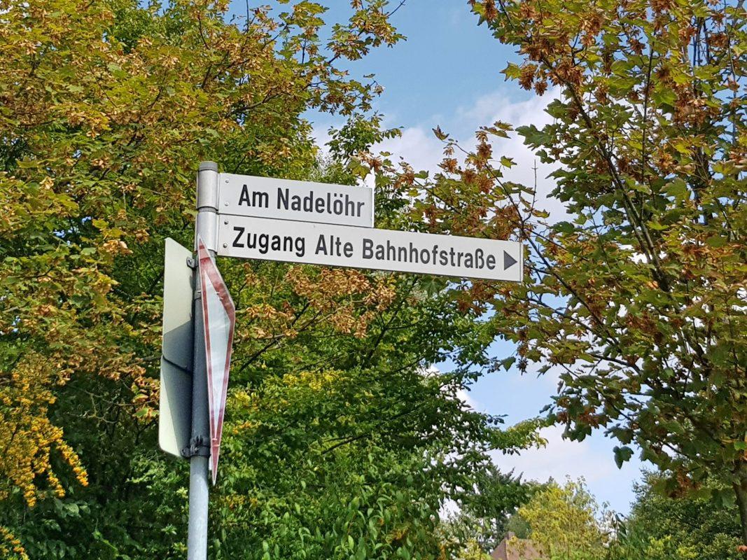 Kuriose Straßennamen in Schweinfurt. Foto: Dirk Flieger