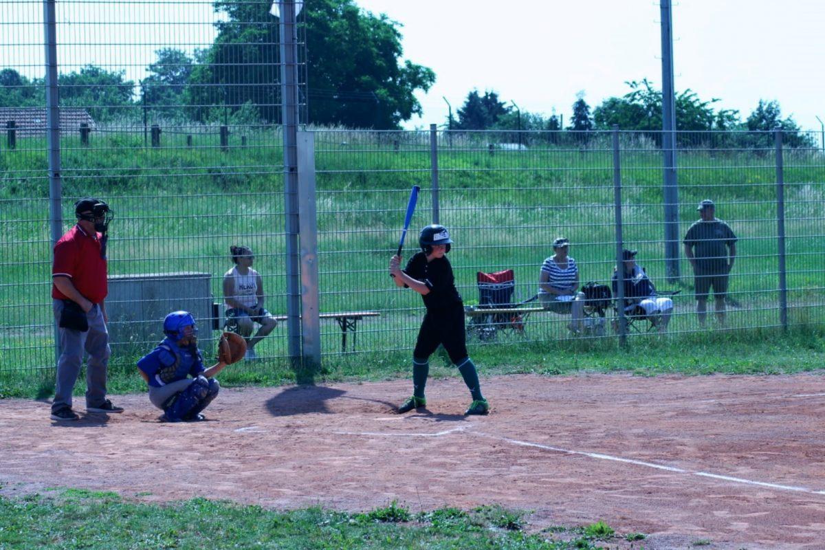 Mit Spaß beim Baseballtraining der DJK Schweinfurt Foto: DJK Schweinfurt
