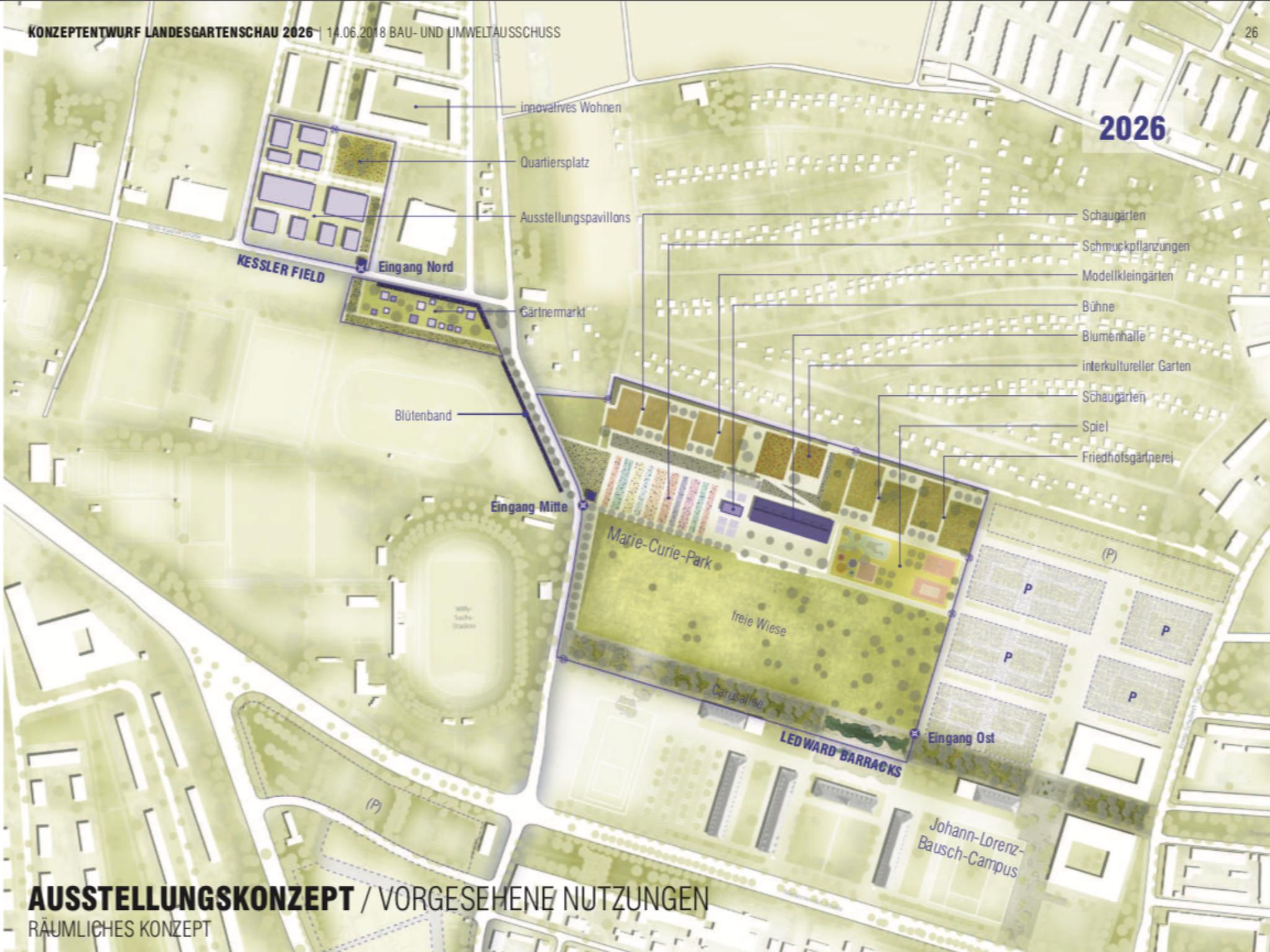Lageplan der LGS 2026. Grafik: Stadt Schweinfurt