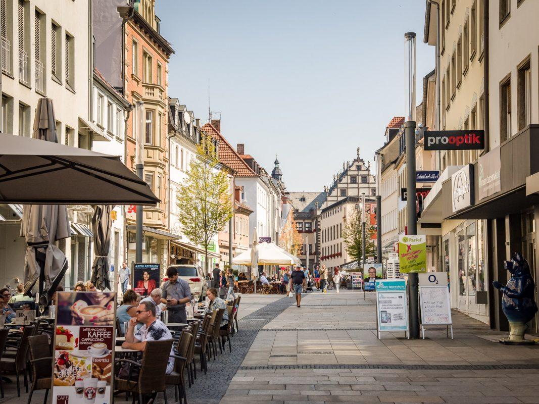 Schweinfurter Fußgängerzone. Foto: Pascal Höfig
