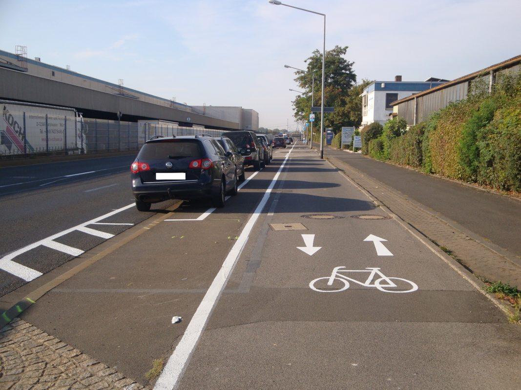 Mehr Platz fürs Rad in der Hafenstraße. Foto: Fritz Hebert, Stadt Schweinfurt.