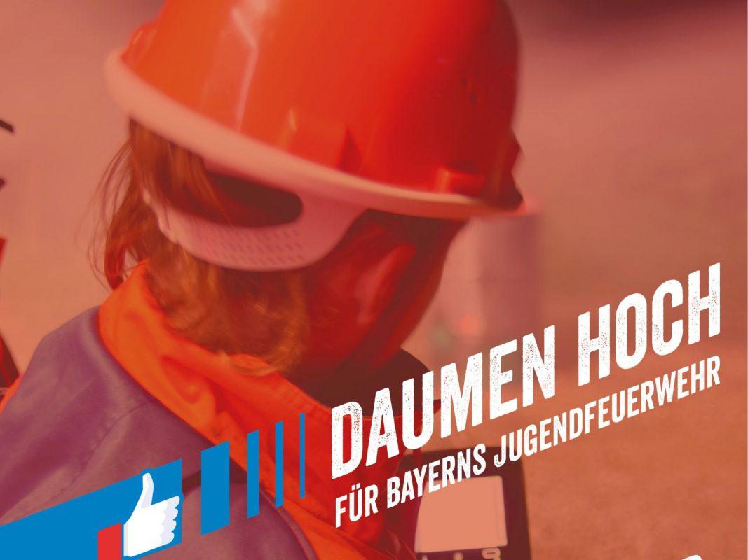 Daumen hoch für die Jugendfeuerwehren Bayerns. Foto: LFV Bayern e.V.