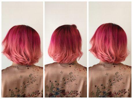 Wenn die Haarfarbe zur Jahreszeit passt. Foto und Frisur: Haarmonie