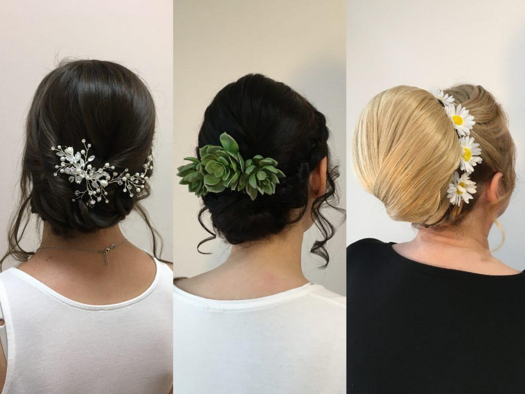 Kleine Details und Accessoires peppen Brautfrisuren auf. Foto: Salon Haarmonie