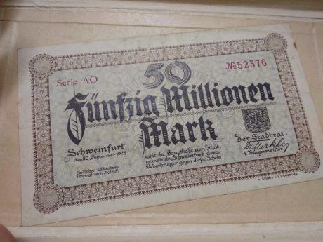 Geldschein aus der Inflation. Foto: Kerstin Tetzlaff.