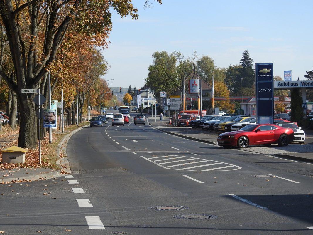 Die Mainberger Straße in Schweinfurt. Foto: Dirk Flieger