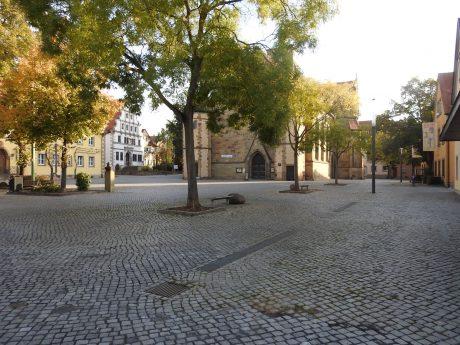 Der Martin-Luther-Platz. Foto: Dirk Flieger