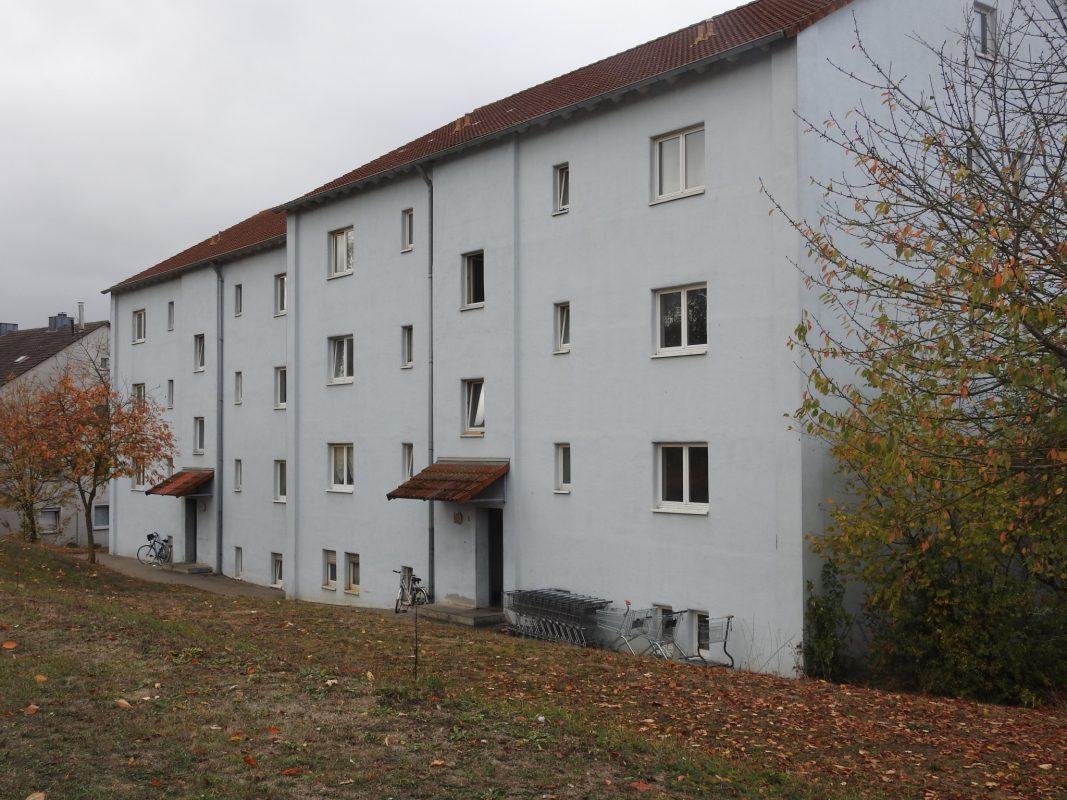 Die Obdachlosenunterkunft in der Euerbacher Straße. Foto: Dirk Flieger