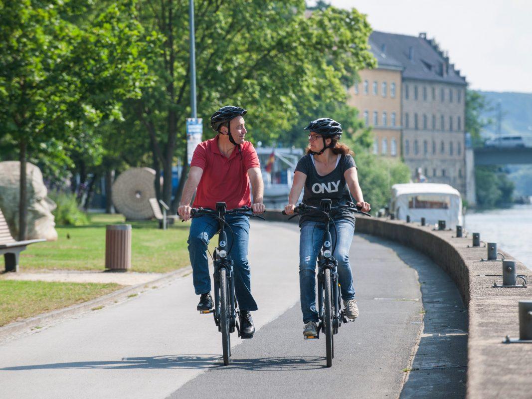 Radfahren in Schweinfurt. Foto: F. Trykowski