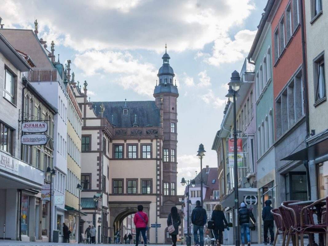 Die Schweinfurter Innenstadt: Rueckertstraße. Foto: Pascal Höfig