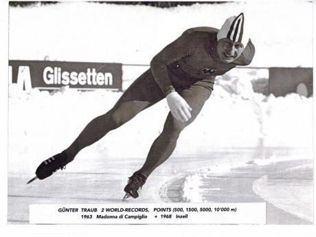 Mit 79 Jahren steht Günter Taub noch heute auf dem Eis. Foto: Günther Traub.