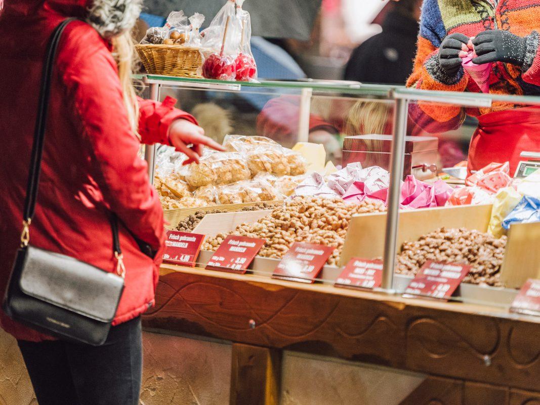 Gebrannte Mandeln am Weihnachtsmarkt. Foto: Pascal Höfig.