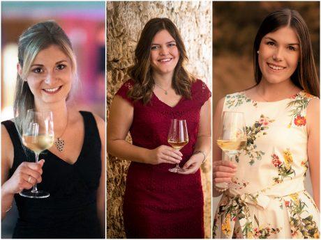 Die Bewerberinnen Elisabeth Goger, Eva-Maria Keller, Carolin Meyer (v.l.). Fotos: Frankenwein-Frankenland GmbH