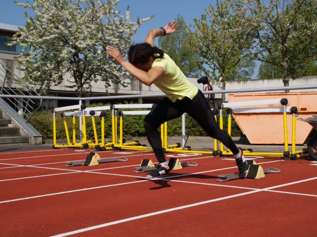 Einen guten Start legt Top-Sprinterin Naomi Hemmelmann hin. Foto: Gößmann-Schmitt